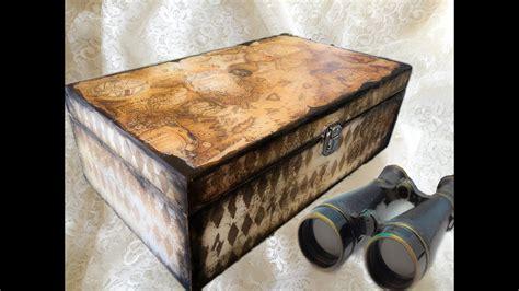 decoupage tutorial wood decoupage tutorial paper on wooden box ντεκουπάζ σε ξύλο