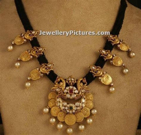 black necklace designs india black thread jewellery indian design jewellery designs