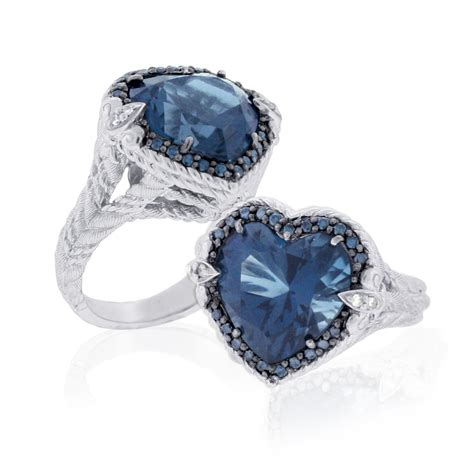 ring jewelry qvc jewelry judith ripka sterling blue topaz and