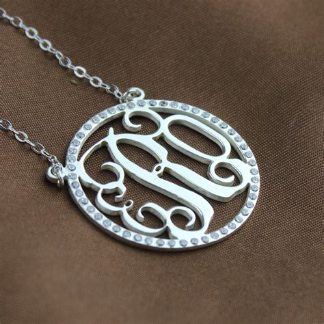 how to make monogram jewelry birthstone circle monogram necklace sterling silver