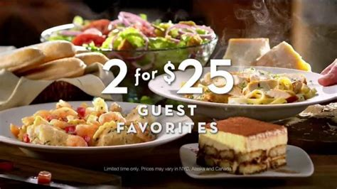 olive garden tv commercial 2 for 25 is back ispot tv