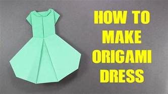 how to make origami with paper how to make origami dress version 2 easy origami