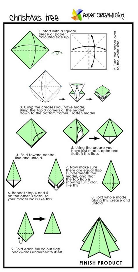 how to make a 3d origami tree origami pine tree paper origami guide