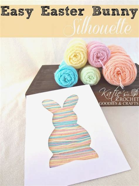 easy yarn crafts for easy easter craft for toddlers bunny silhouette yarn craft