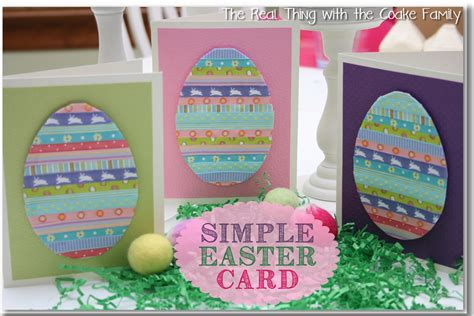 easy easter cards for toddlers to make handmade cards simple easter card babysitting academy