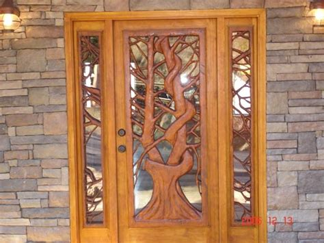 carved front doors home