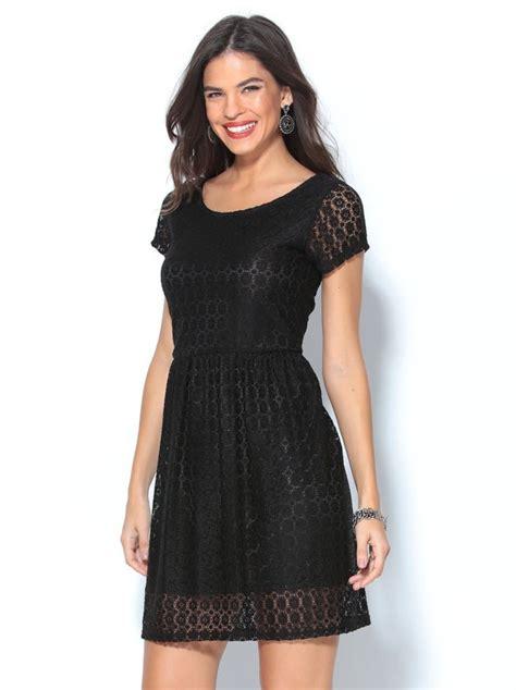 vestidos cortos negro vestido corto de fiesta negro de encaje manga corta