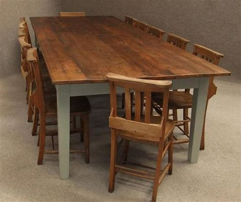 large kitchen tables large rustic pine kitchen table