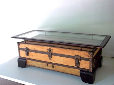 Large Coffee Table Flat Top   101   R I X O N T A B L E S   HOME OF THE ANTIQUE TRUNK TABLES