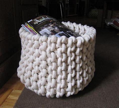 knit rope basket knit rope basket pattern by cara corey i am