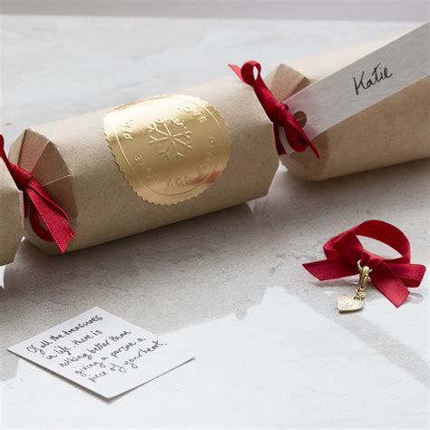 luxury crackers uk personalised luxury cracker with charm by