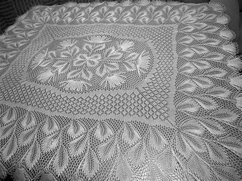 knitting patterns for tablecloths nachtschatten rectangular tablecloth in knitted lace by