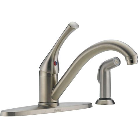 single handle kitchen faucet with sprayer delta classic single handle standard kitchen faucet with