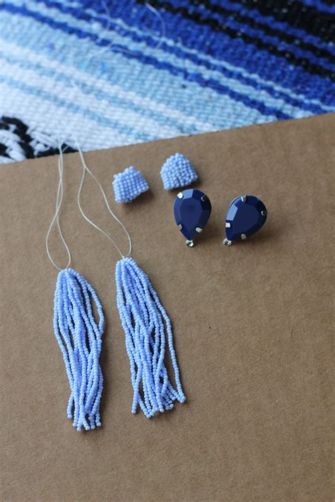diy beaded earrings tutorial diy tassel earrings homemadebanana