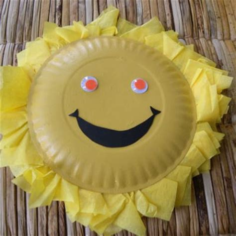 paper plate sun craft smiley paper plate images