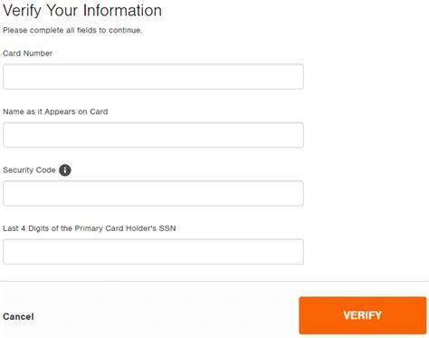 make home depot credit card payment home depot consumer credit card login make a payment