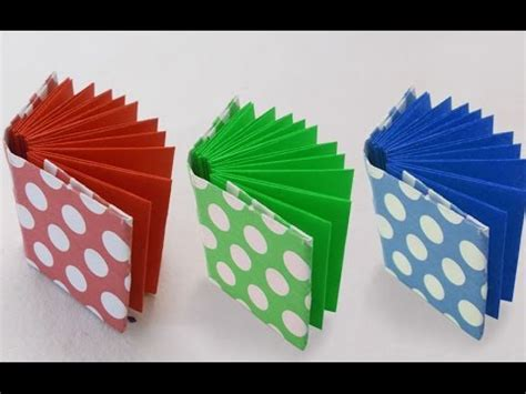 easy to make paper crafts diy project ideas how to make a mini origami book
