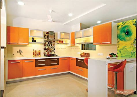 orange kitchen cabinet orange laminate kitchen cabinet