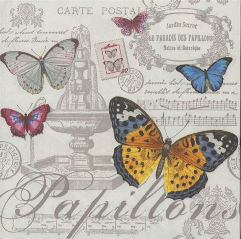 butterfly decoupage paper 4 decoupage napkins butterflies and
