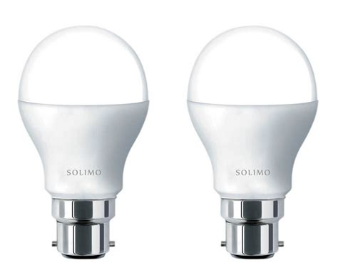 cool led light bulbs buy solimo base b22 9 watt led bulb pack of 2