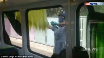 spray painter hire melbourne masked lock passengers inside a melbourne and