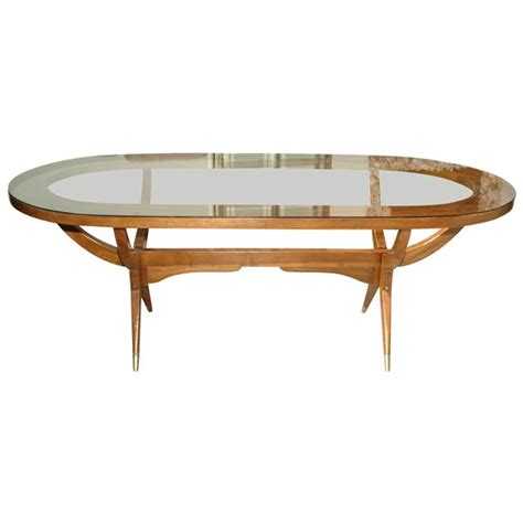 oval glass top dining table 60 s oval dining table with glass top at 1stdibs