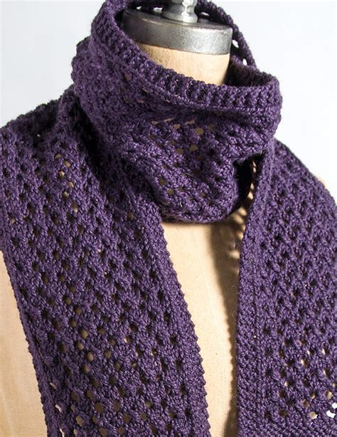knit lace scarf four row repeat knitting patterns in the loop knitting