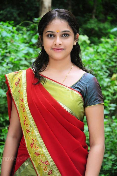 in telugu with pictures telugu sri divya in saree stills photo gallery