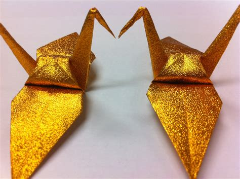 buy origami cranes 50 origami crane glittering gold made from paper size