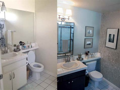 Before And After Small Bathroom Makeovers by Bathroom Small Design Bathroom Makeovers Before After