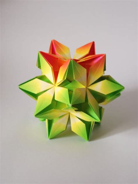 modern origami paper modern home decor geometric paper sculpture green