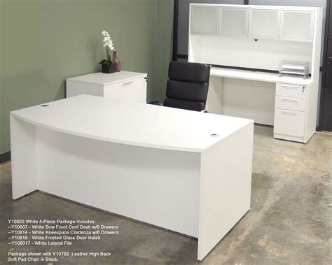 white office desk furniture white 4 office furniture package