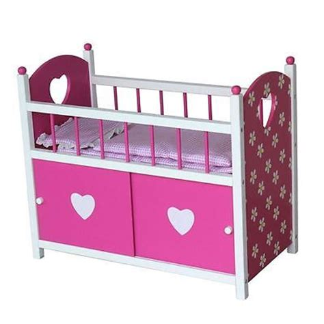 baby doll wooden crib baby doll crib cot pink stirdy wooden bed with storage