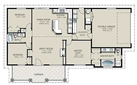house plans with and bathrooms ranch style house plan 3 beds 2 00 baths 1493 sq ft plan 427 4