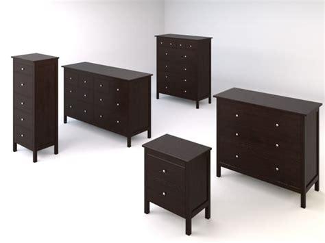 ikea hemnes bedroom furniture hemnes bedroom drawers chests 3d model
