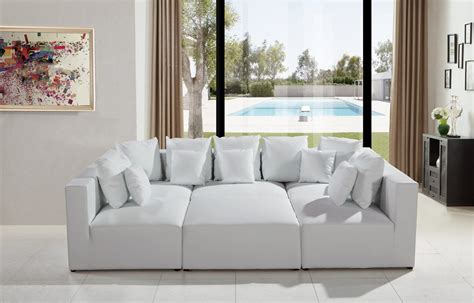 white modern sectional sofa 206 modern white leather sectional sofa