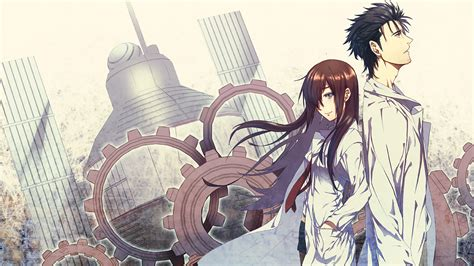 steins gate makise kurisu rintarou kyouma hd wallpaper and