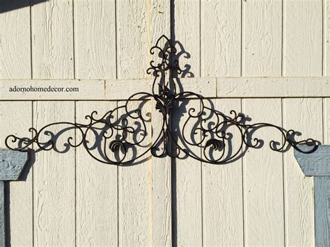 garden wall decor wrought iron large tuscan wrought iron metal wall decor rustic antique