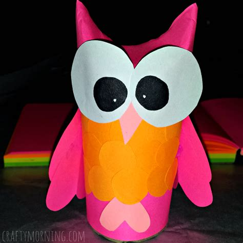 toilet paper owl craft diy owl toilet paper roll craft for crafty morning