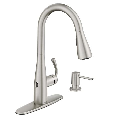 motionsense kitchen faucet moen essie touchless single handle pull sprayer kitchen faucet with motionsense wave in