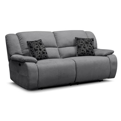 grey sofa recliner fortuna gray power reclining sofa furniture