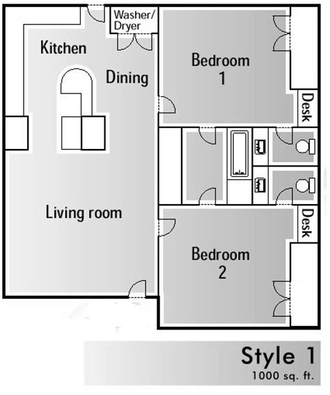 floor plan 1000 square foot house 1000 square foot house floor plans home design and style