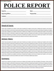 6 police report template printable receipt