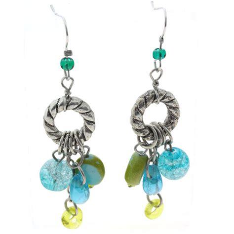 beaded earrings fair trade drop beaded earrings preeti
