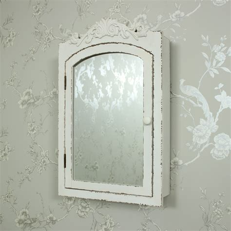 shabby chic bathroom cabinet with mirror chic mirrored wall cabinet cupboard shelves