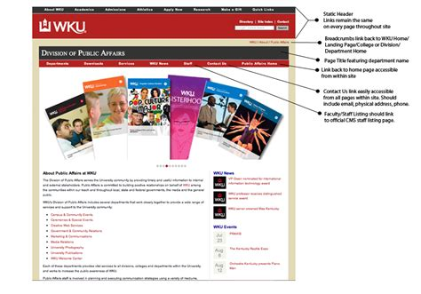 wku website design standards and requirements western