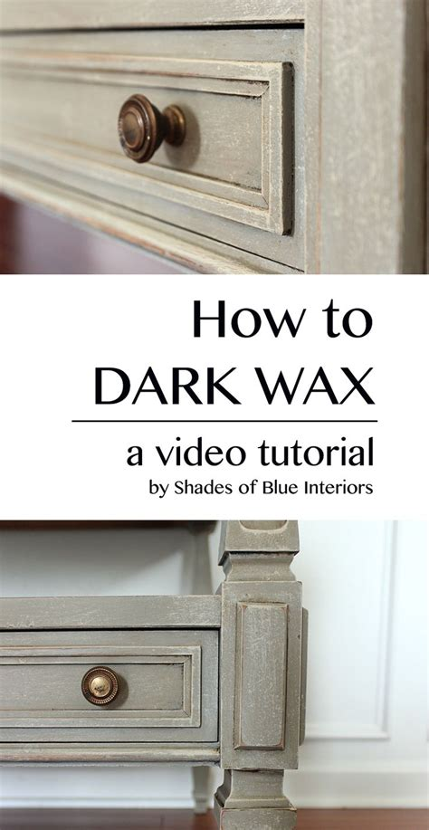 chalk paint and wax tutorial 25 best ideas about wax on waxing