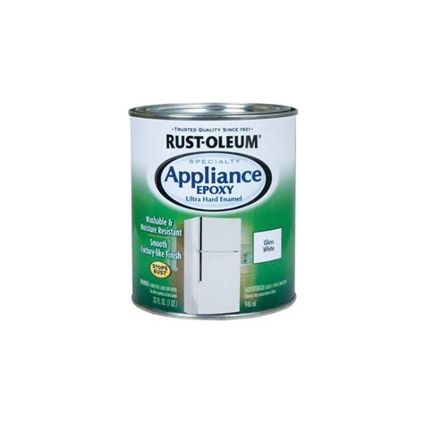 home depot paint quart rust oleum specialty 1 qt white gloss appliance paint