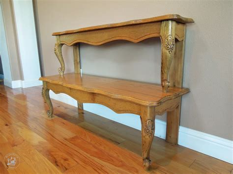 repurposed coffee table entryway table from a repurposed coffee table