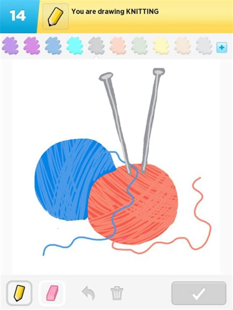 knitting drawing knitting drawings how to draw knitting in draw something